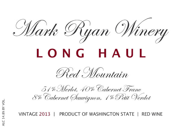 Mark Ryan Long Haul Merlot 2018