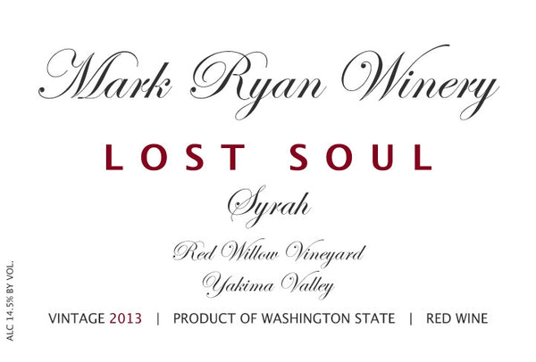 Mark Ryan Lost Soul Syrah 2017