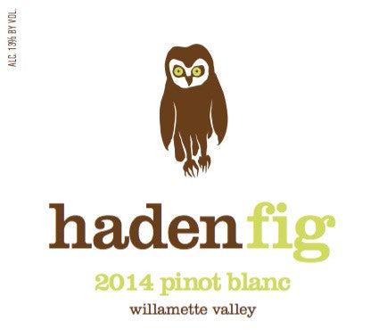 Haden Fig Willamette Valley Pinot blanc 2015