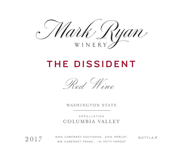 Mark Ryan The Dissident Red 2018