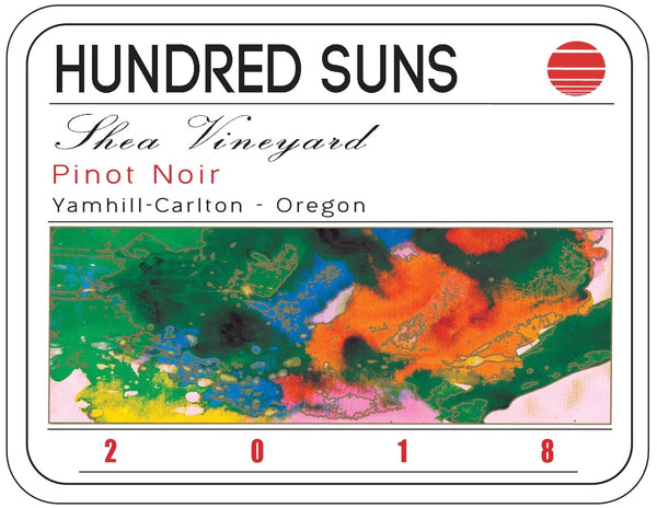 Hundred Suns Shea Vineyard Pinot noir 2018