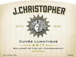 J. Christopher Cuvee Lunatique Chardonnay 2017