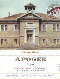 L'Ecole #41 Apogee Pepper Bridge Vineyard 2015