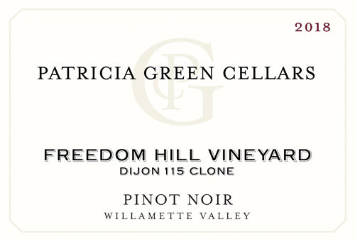 Patricia Green Cellars Freedom Hill Vineyard Dijon Clone 115 Pinot Noir 2018