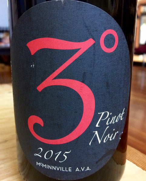Three Degrees Pinot noir McMinnville 2016