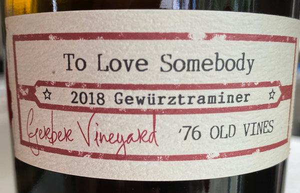 Ovum To Love Somebody Gewurztraminer 2018