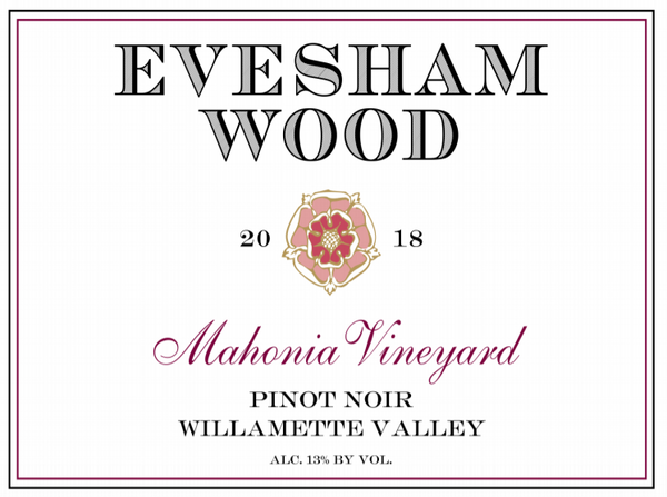 Evesham Wood Mahonia Vineyard Pinot noir 2018