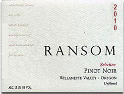 Ransom Selection Pinot Noir 2013