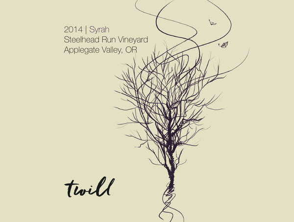 Twill Cellars Steelhead Run Vineyard Syrah 2014