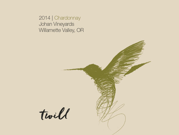 Twill Cellars Johan Vineyard Chardonnay 2016 & Twill Cellars - Avalon Wine Inc.