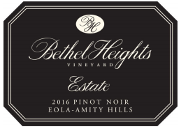 Bethel Heights Estate Pinot noir Eola-Amity Hills 2018