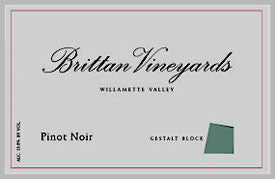 Brittan Vineyards Gestalt Block Pinot Noir 2015