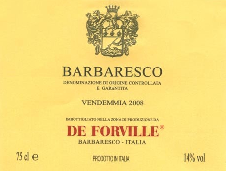 De Forville Barbaresco 2014