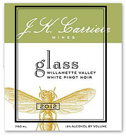 J.K. Carriere Glass White Pinot noir 2018