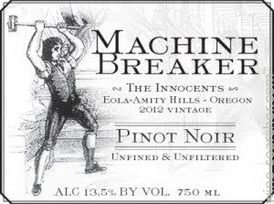 Machine Breaker The Innocents Eola-Amity Hills Pinot noir 2012