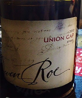 Owen Roe Union Gap Vineyard Syrah 2014