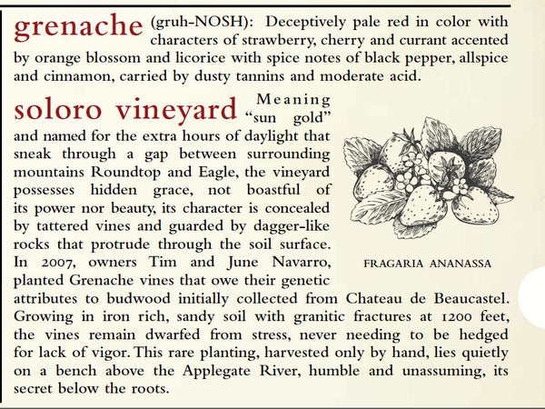 Minimus Grenache Soloro Vineyard 2015