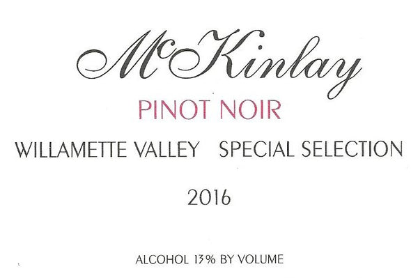 McKinlay Special Selection Pinot noir 2016