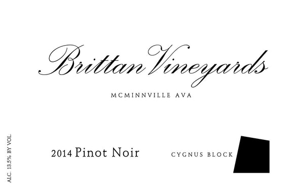 Brittan Vineyards Cygnus Block Pinot Noir 2015