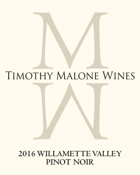 "Timothy Malone ""Ma-Lone Wolf"" Willamette Valley Pinot Noir 2016"