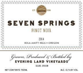 Evening Land Seven Springs Vineyard Pinot noir 2014