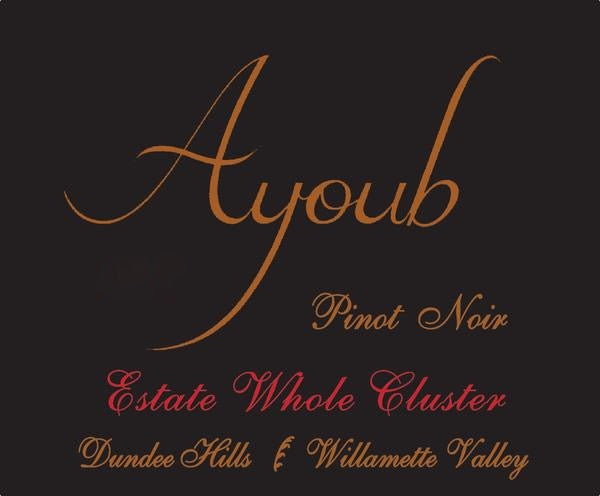 Ayoub Estate Whole Cluster Pinot noir 2019