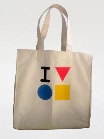 Canvas tote bag 'I love the Bauhaus'
