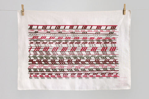 Chevron  tea towel
