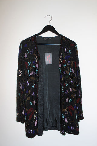 VTG HAND-BEADED BLOUSE (XS-M)