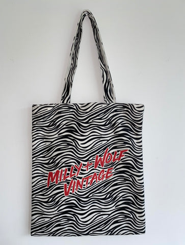 MILLY & WOLF 'ZEBRA' TOTE BAG