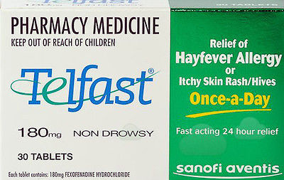 Telfast 180mg 2 x 30 Tablets 2 months supply Antihistamine *Special Spring Deal