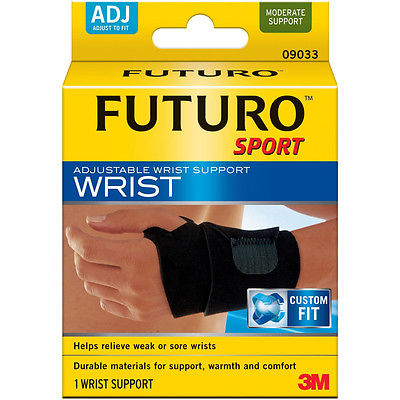 Genuine 3M Futuro Sport Adjustable Wrist Support *Left and Right Wrist Use *New