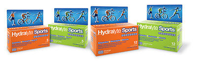2 x Hydralyte Sports Packages 10 Sachets Orange Lemon Lime Mix Electrolyte Repl