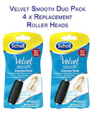 Scholl Velvet Smooth Duo Pack *Express Pedi 4 Replacement Rollers*