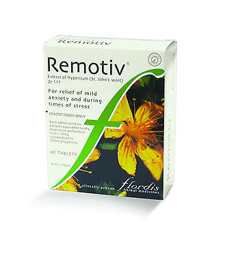 Flordis Remotiv 60 Tablets Relief of Anxiety, Nervous Tension and Irritability