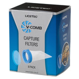 Licetec V-Comb Capture 8 Filter trap head lice and eggs removed from the hair