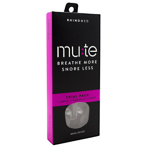 Rhinomed Mute Snore Less Nasal Device SMALL, MEDIUM & LARGE * NEW * Trial Pack *