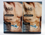2 x The Original Nad's Hair Removal Body Waxing Strips for Men *40 Strips