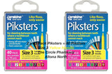2 x 40 Pack = 80 Piksters Size 3 Interdental Yellow Handle Brush Like Floss