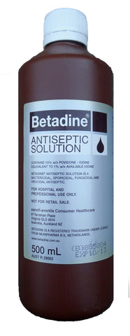 Betadine Antiseptic Solution Liquid Hospital Povidone - Iodine 500mL
