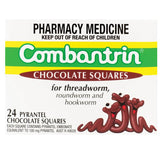 Combantrin 24 Pyrantel Chocolate Squares for worm treatment