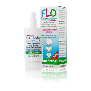 FLO Baby Saline+ Plus Nasal Drops 15ml