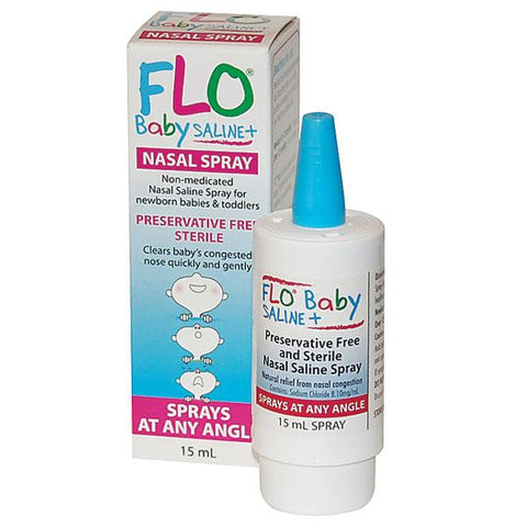 FLO Baby Saline+ Plus Nasal Spray 15ml