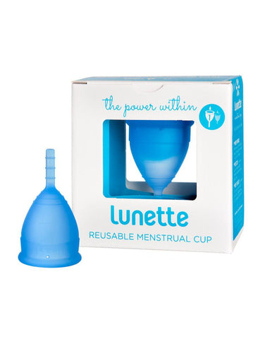 Lunette Reusable Menstrual Cup Model 1 & 2 in Aqua Blue