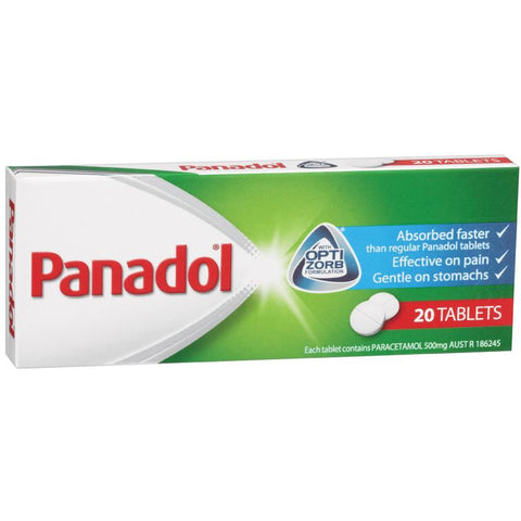 Panadol Tablets with Optizorb Technology 20 Tablets
