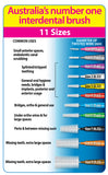 2 x 40 Pack = 80 Piksters Size 6 Interdental Green Handle Brush Like Floss