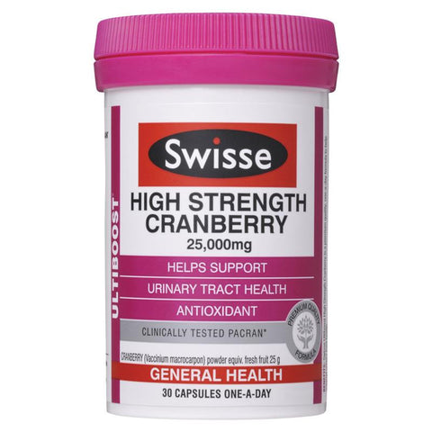 Swisse UltiBoost High Strength Cranberry 25000mg 30 Caps