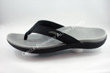 Original Scholl Orthaheel Wave Black Shoe Thongs Flip Flops