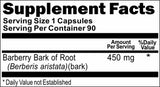 BUY 1 GET 2 FREE Barberry Bark of Root 450mg 90 Capsules