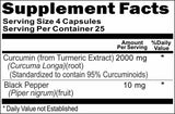 BUY 1 GET 2 FREE Curcumin Black Pepper 2000mg 100 or 200 Capsules